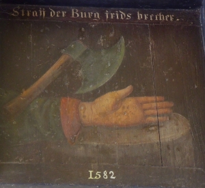 """""""Straff der Burg frids brecher"""""""