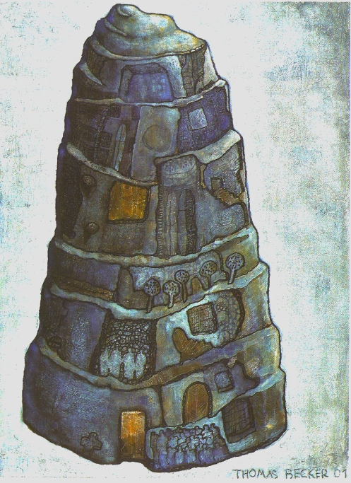 "Thomas Becker ""Babylon"", 2001 Acryl auf Leinwand (130 x 165 cm)"